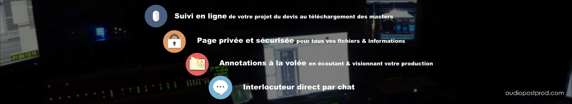 audiopostprod.com, tous les services de la post-production sonore en ligne.