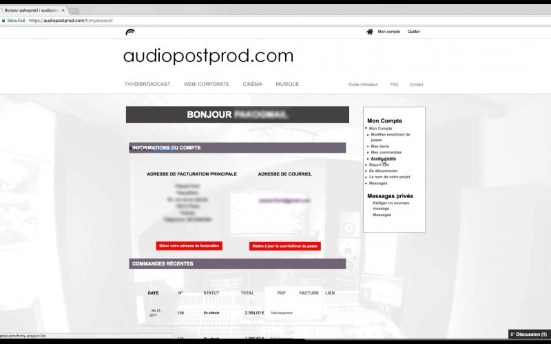 De multiples accès à votre page projet sont possible.